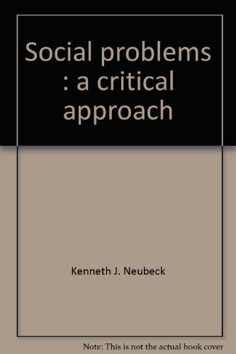 9780394357416: Social problems: A critical approach