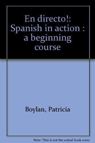 9780394364834: En directo!: Spanish in action : a beginning course
