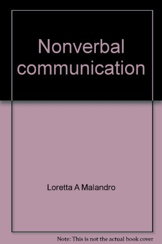 9780394365268: Nonverbal communication