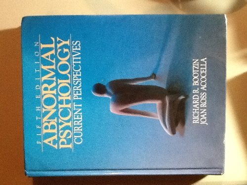 9780394368597: Abnormal psychology: Current perspectives