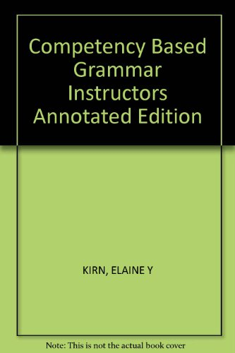 9780394372808: Competency Based Grammar Instructors Annotated Edition