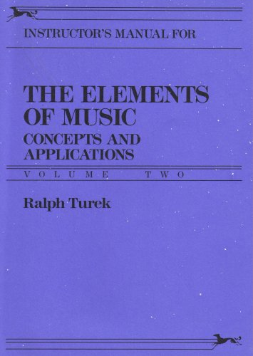 9780394375700: The Elements of Music (Instructor's Manual, Concepts and Applications Volume 2)