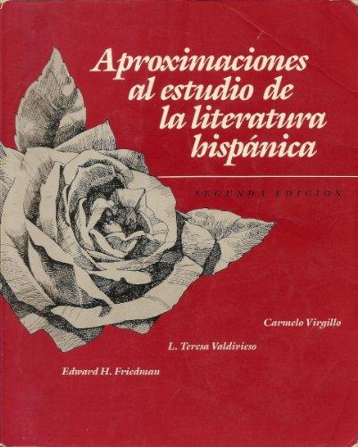 9780394378329: Aproximaciones al Estudio de la Literatura Hispanica