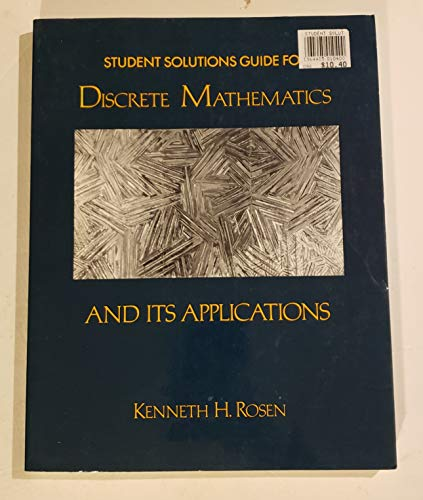 9780394380506: Student Solutions Guide for Discrete Mathematics and its Applications Edition...