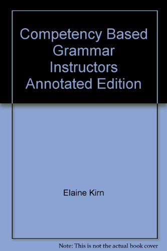 9780394380674: Competency Based Grammar Instructors Annotated Edition