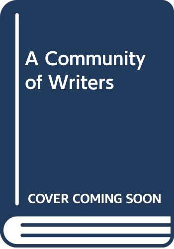 9780394386218: A Community of Writers