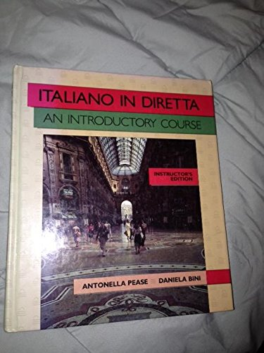9780394388991: Italiano in Diretta: An Introductory Course; Instructor's Edition