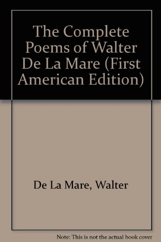 9780394403328: The Complete Poems of Walter De LA Mare