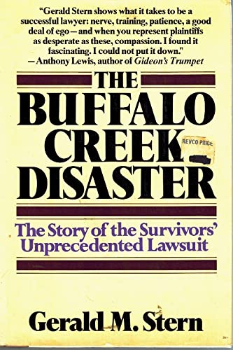 9780394403908: The Buffalo Creek Disaster: The Story of the Survivors' Unprecedented Lawsuit