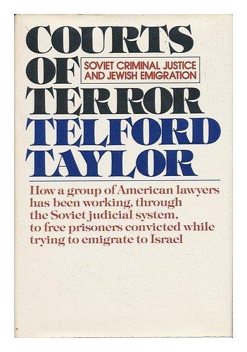 9780394405094: Courts of terror: Soviet criminal justice and Jewish emigration