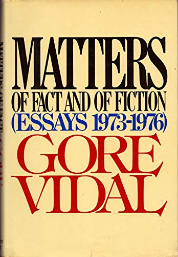 9780394411286: Matters of Fact and of Fiction (Essays 1973-1976)