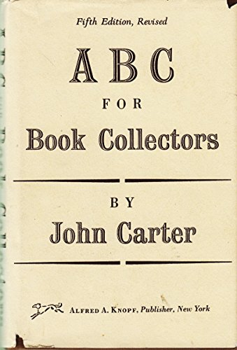 9780394414034: ABC for Book-Collectors