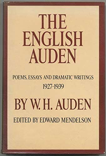 the english auden poems essays and dramatic writings by  the english auden poems essays and w h auden