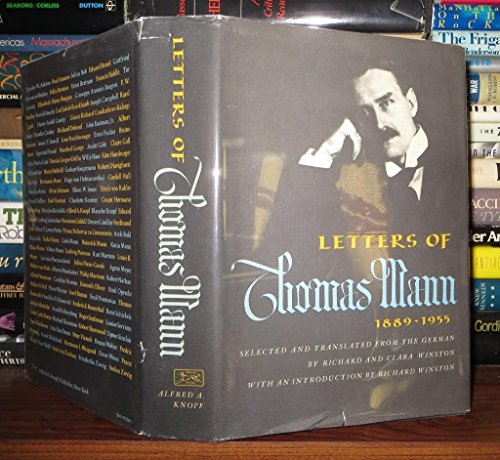 9780394433042: Letters of Thomas Mann 1889-1955