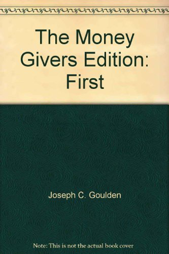 9780394462431: The money givers,