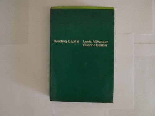 Reading Capital.: ALTHUSSER, Louis and BALIBAR, Etienne.