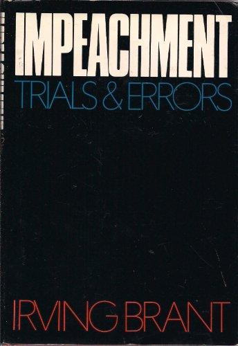 9780394473260: Impeachment: Trials and Errors