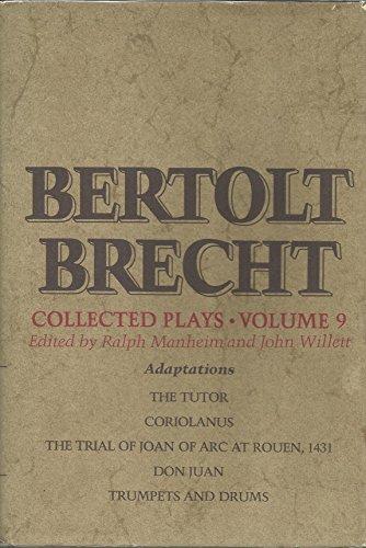 9780394480428: Bertolt Brecht Collected Plays, Vol. 9: Adaptations