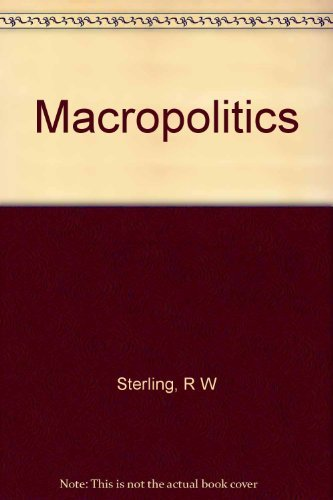 9780394485218: Macropolitics; international relations in a global society