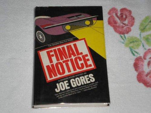 Final Notice: Gores, Joe