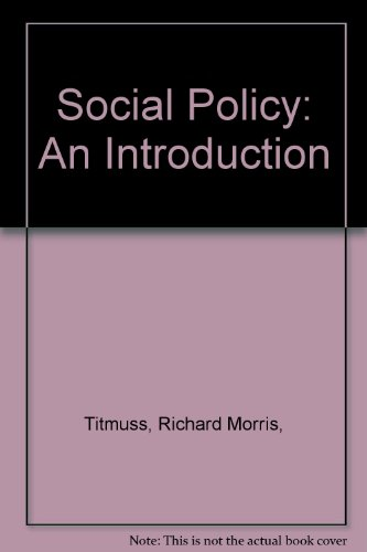9780394494470: Social Policy: An Introduction