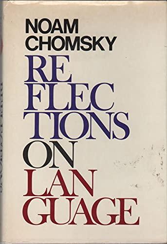 9780394499567: Reflections on Language
