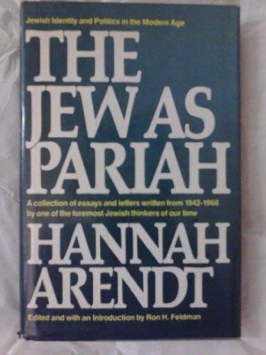 9780394501604: The Jew as pariah: Jewish identity and politics in the modern age