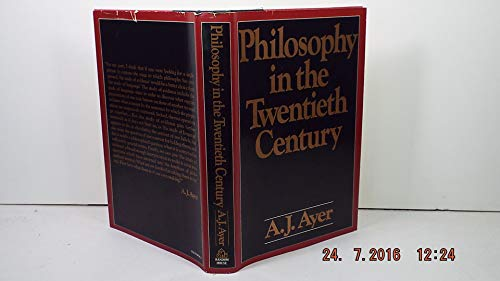 Philosophy In The Twentieth Century