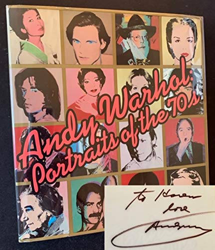 9780394506555: ANDY WARHOL: PORTRAITS OF THE 70'S - DELUXE SLIPCASED EDITION SIGNED BY ANDY WARHOL