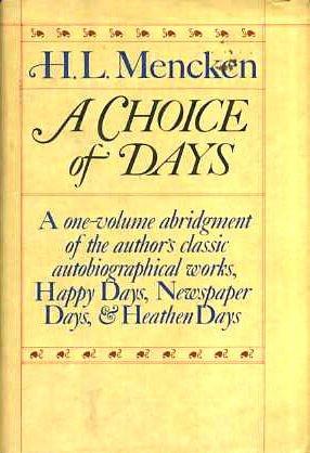 9780394507958: A Choice of Days