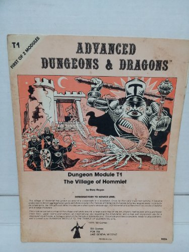 9780394511856: The Village of Hommlet (Advanced Dungeons & Dragons Module T1)