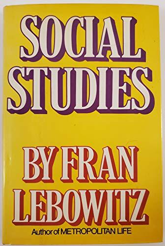 Social Studies: Lebowitz, Fran