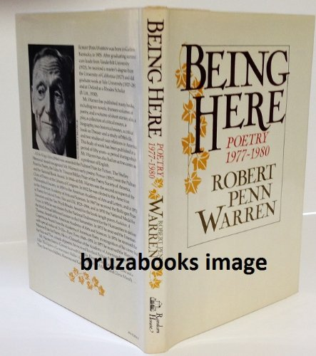 Being Here : Poetry 1977-1980 (SIGNED): Warren, Robert Penn