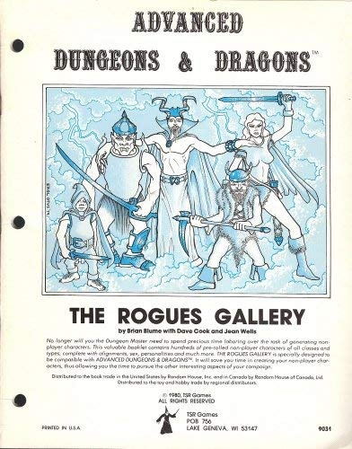 9780394515489: Rogues Gallery: A Compendium of Non-Player Characters (Advanced Dungeons and Dragons)
