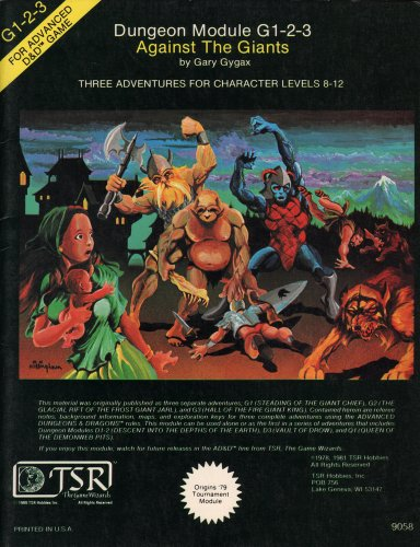Against the Giants (Advanced Dungeons & Dragons Module G1-2-3): Gary Gygax