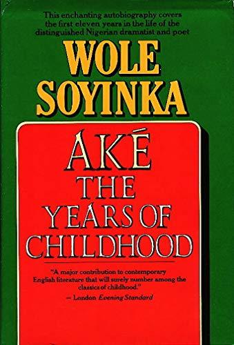 9780394528076: Ake: The Years of Childhood