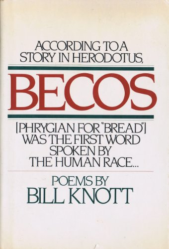 9780394529240: Becos: Poems