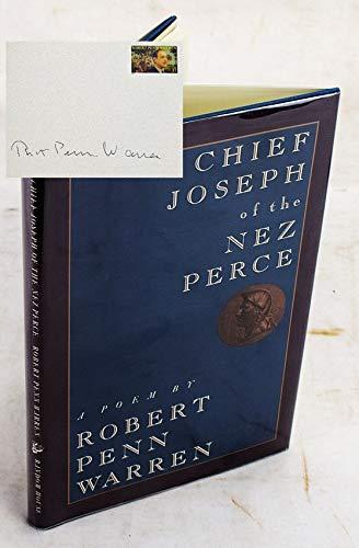 Chief Joseph of the Nez Perce: Warren, Robert Penn