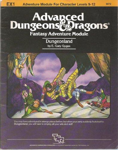 9780394531540: Dungeonland (Advanced Dungeons & Dragons module EX1)