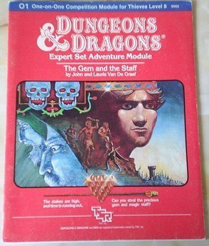 9780394531595: The Gem and the Staff, Dungeons and Dragons, One on One Level Eight