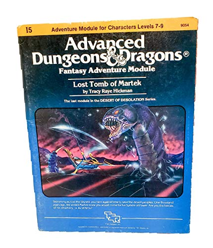 9780394531601: Advanced Dungeons and Dragons Module Tomb of Martek