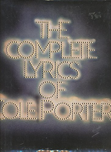 9780394532141: The Complete Lyrics of Cole Porter