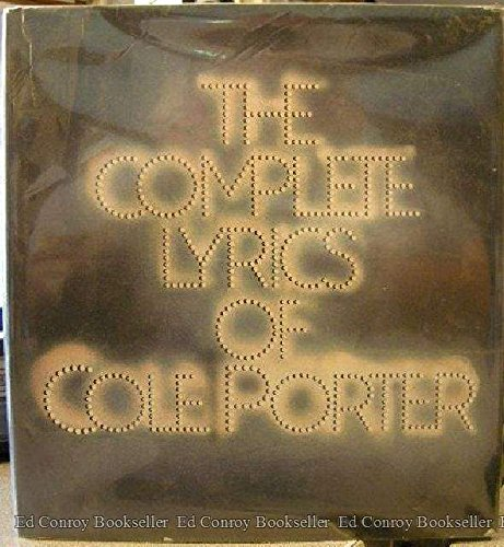 9780394532141: The Complete Lyrics of Cole Porter