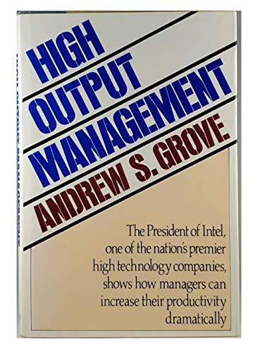 9780394532349: High-Output Management
