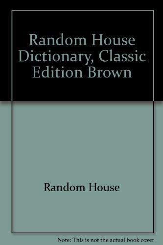 9780394534428: Random House Dictionary