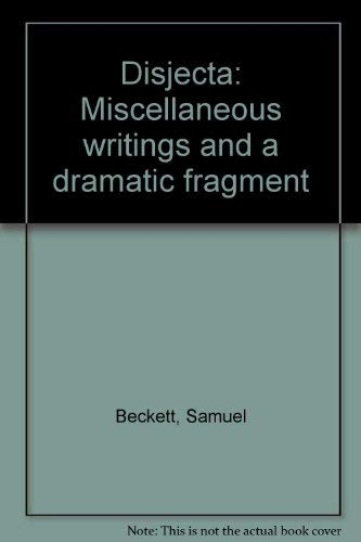 9780394535005: Disjecta: Miscellaneous writings and a dramatic fragment