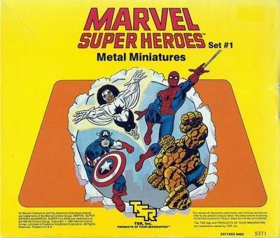 9780394540207: Marvel Super Heroes Metal Miniatures: Set No. 1
