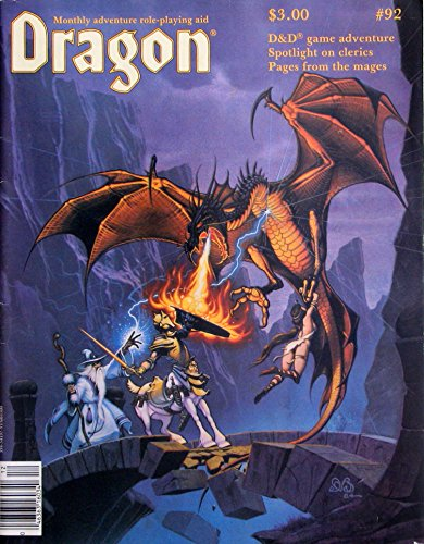 9780394541976: Dragon Magazine No. 92