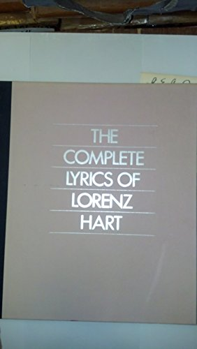 9780394546803: The Complete Lyrics of Lorenz Hart