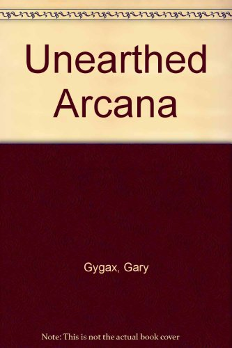 9780394548340: Unearthed Arcana